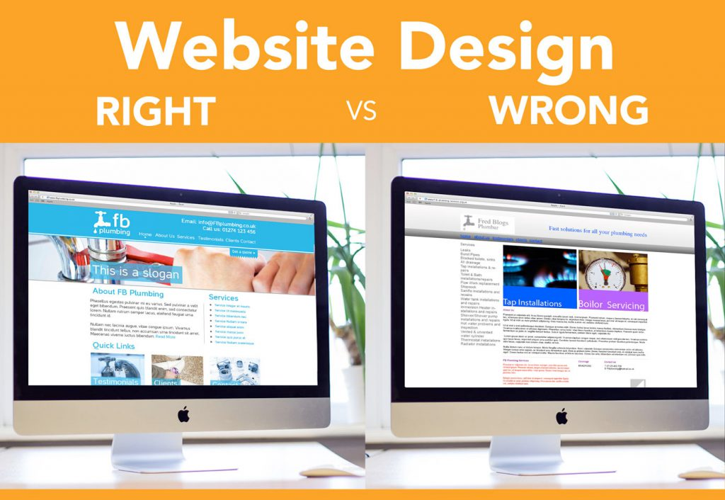 Infographic: Website Design – Right vs Wrong Image
