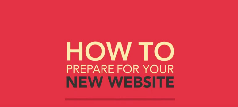 How to prepare for a new website