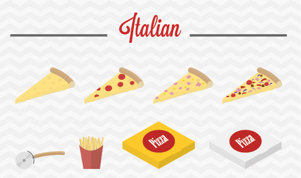 Free food icons to celebrate Pizza Day! Image