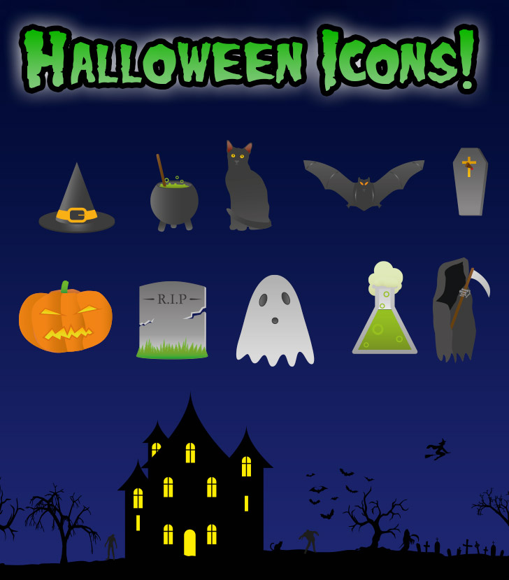 Spooky Halloween Icons to give you the shivers! Image