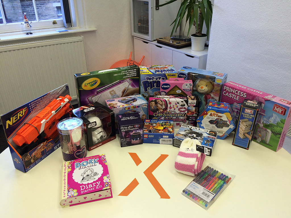 Gifts collected for the JCI Bradford Secret Santa Appeal