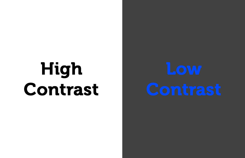 Image showing high and low contrast