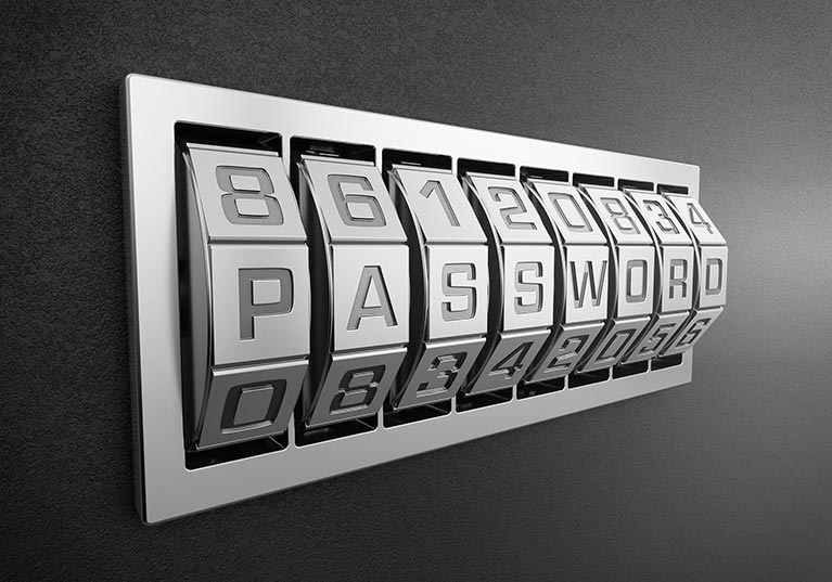 Image of a password