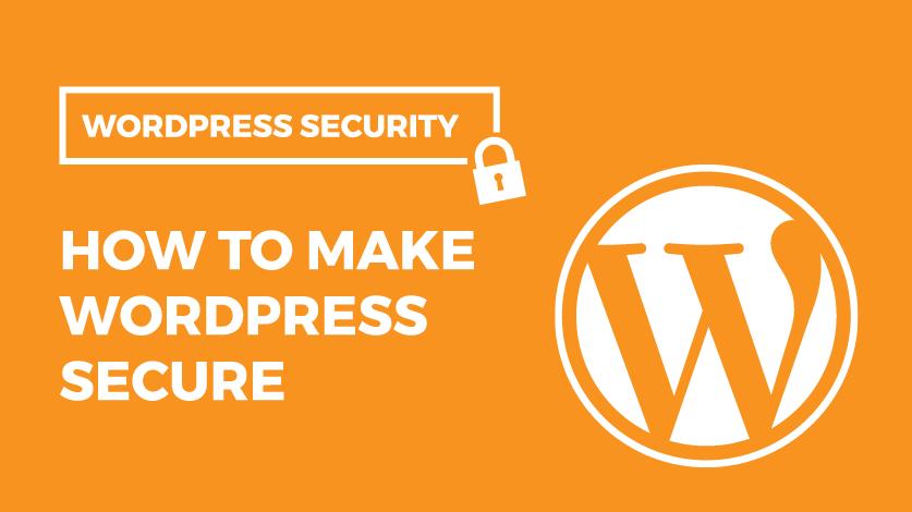 WordPress Security – How to Make WordPress Secure Image