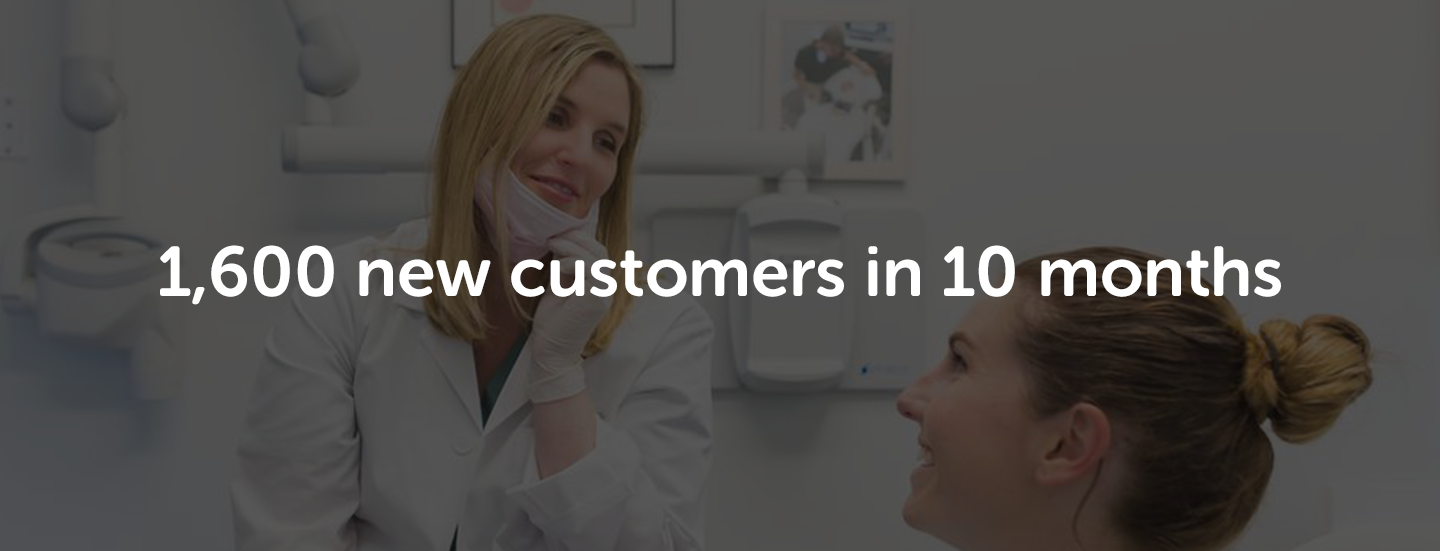 1600 customers in 10 months