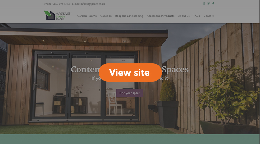We built a new website for our client Hargreaves Garden Spaces