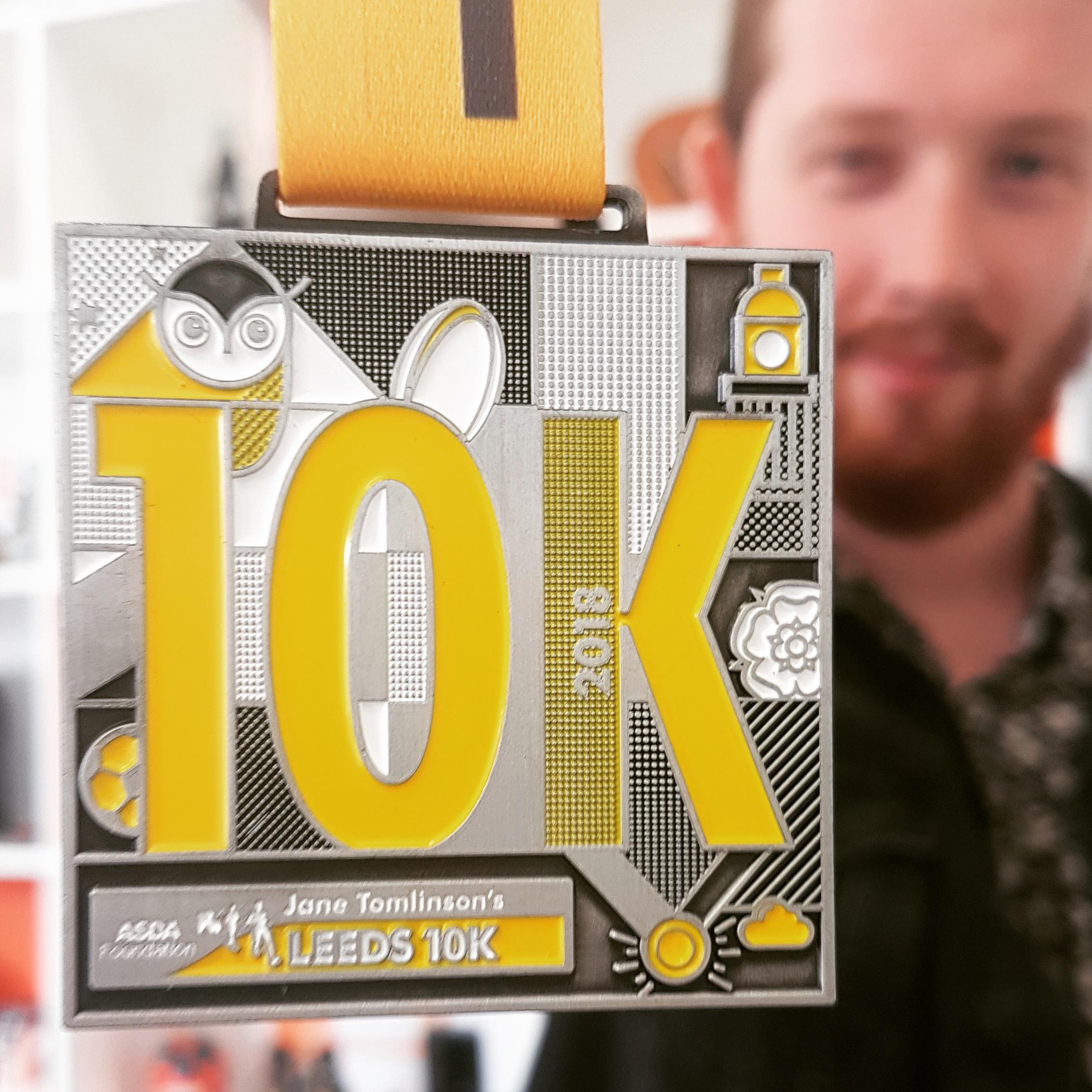 Leeds 10k medal