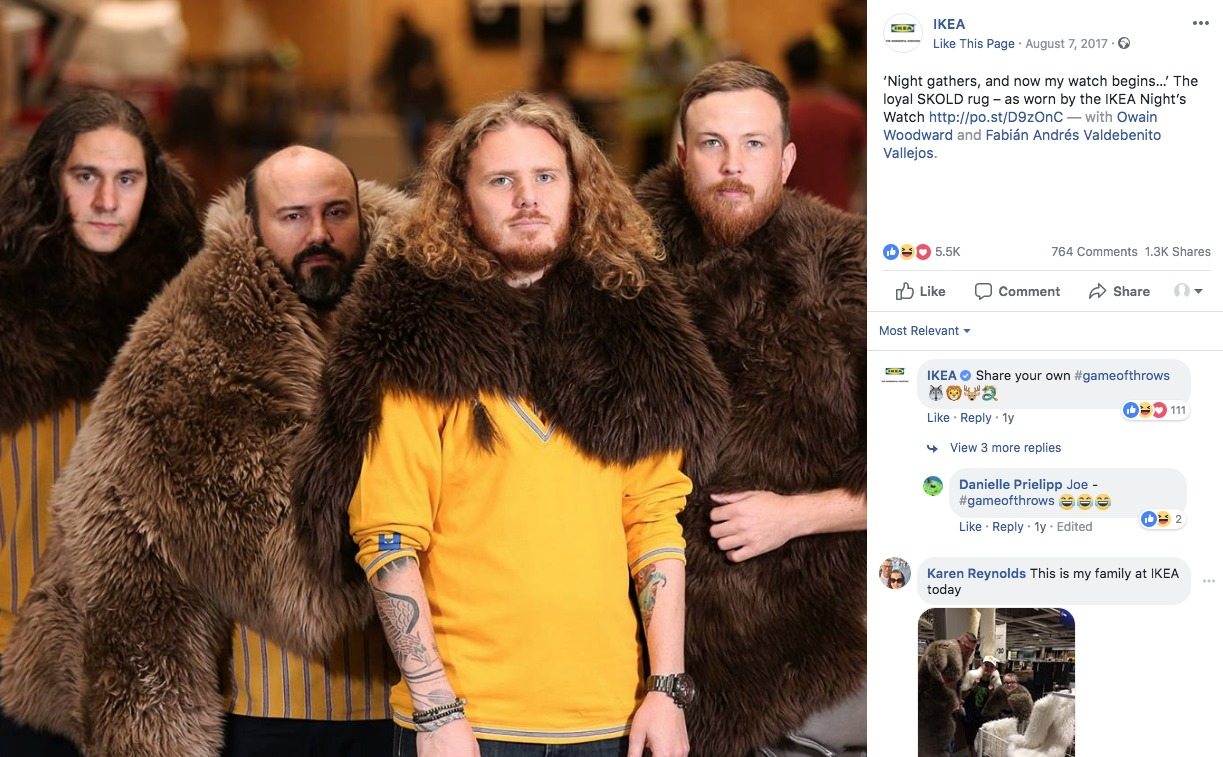 IKEA Game Of Thrones Costumes