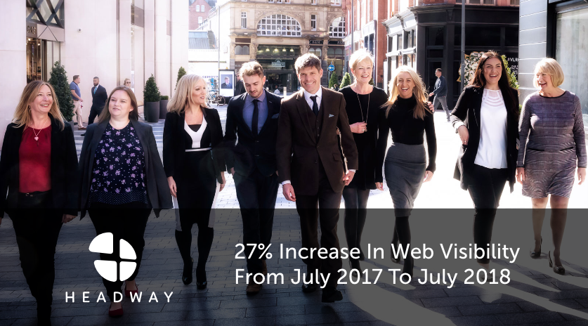 27% Increase In Web VisibilityFrom July 2017 To July 2018