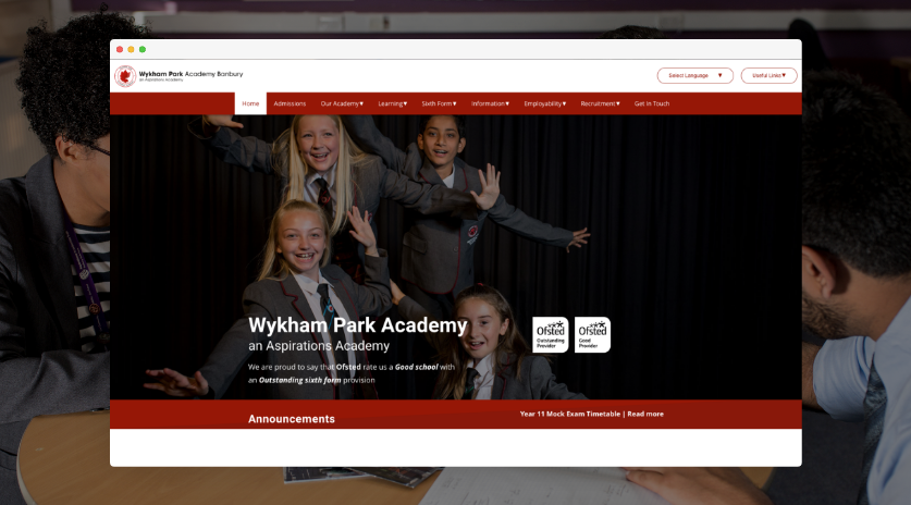 Screenshot of Wykham Park Website