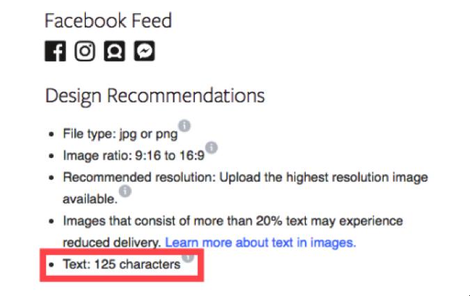 Facebook design recommendations