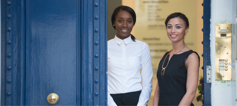 Receptionist Tara & Practice Manager Dornay form 35 Devonshire Place