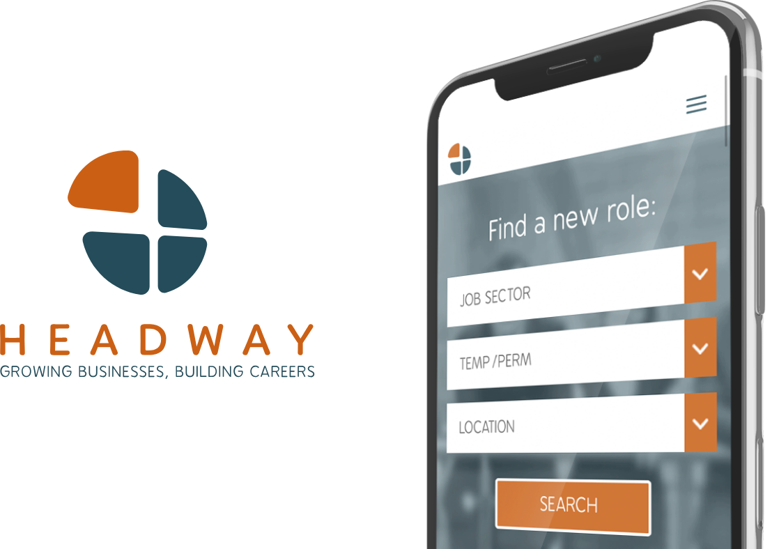 Headway Recruitment website on mobile device