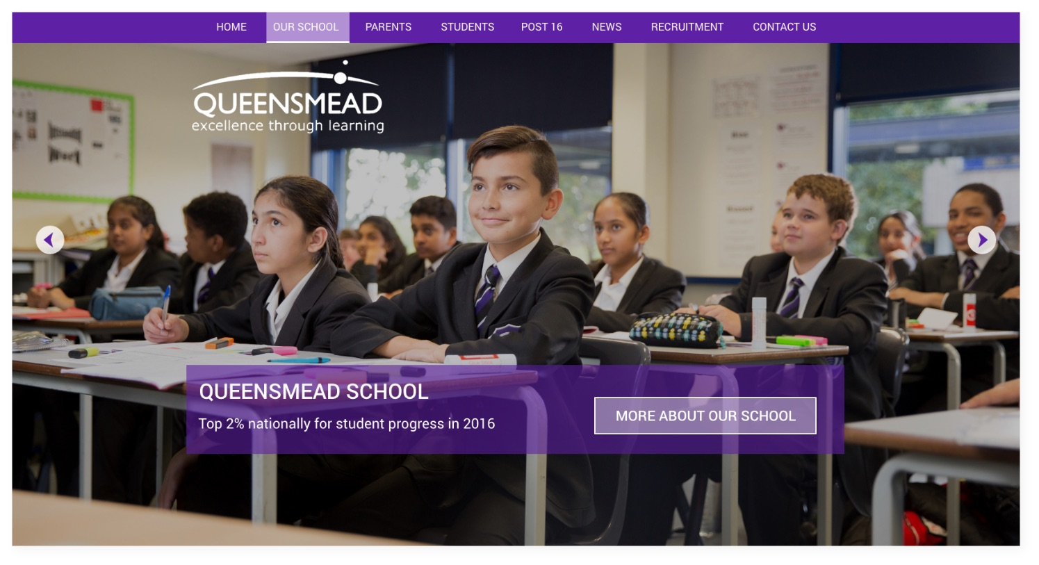 Queensmead Shool website
