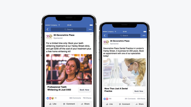 35 Devonshire Place Facebook Ads