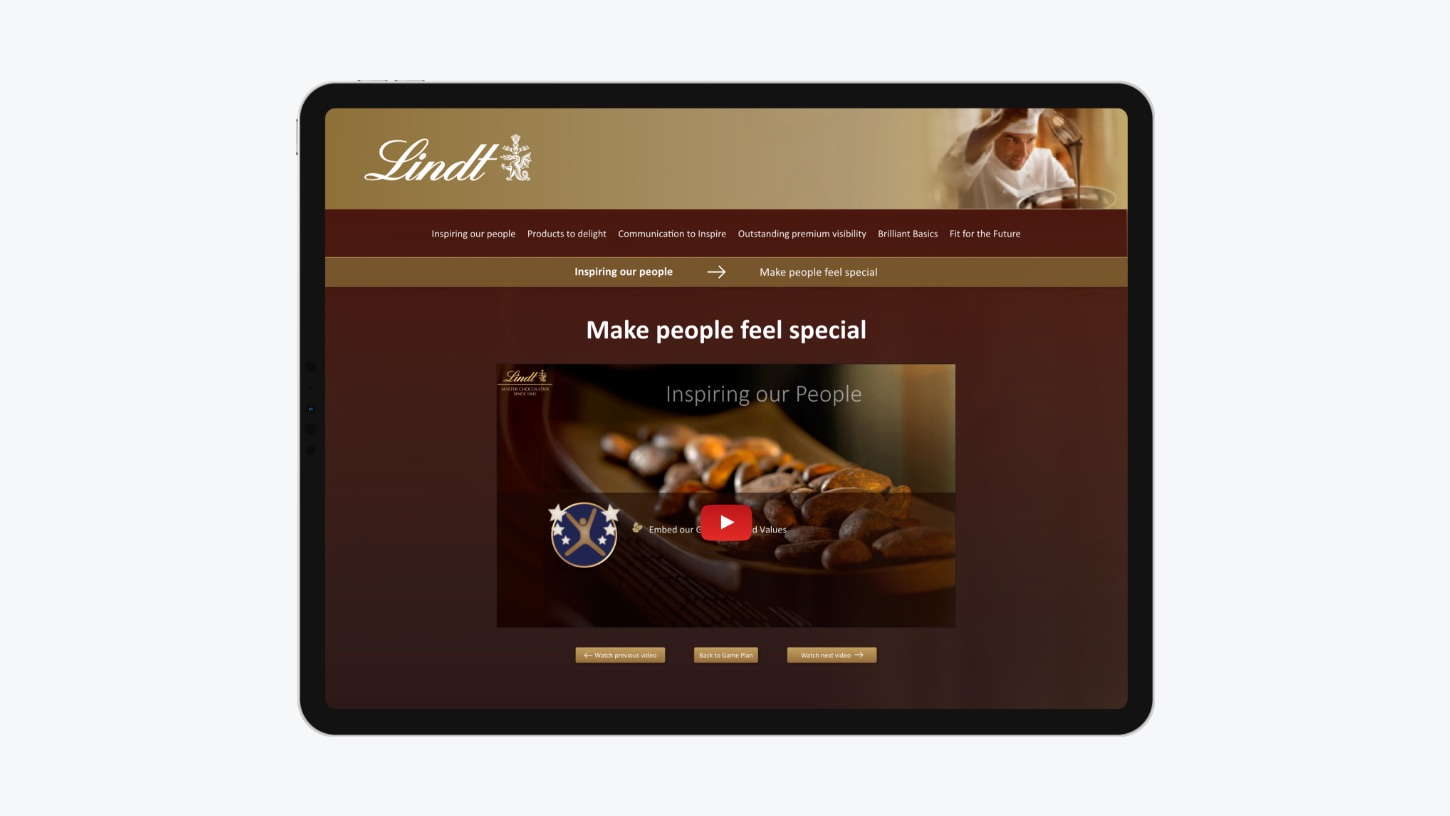 Lidnt Game Plan video on tablet