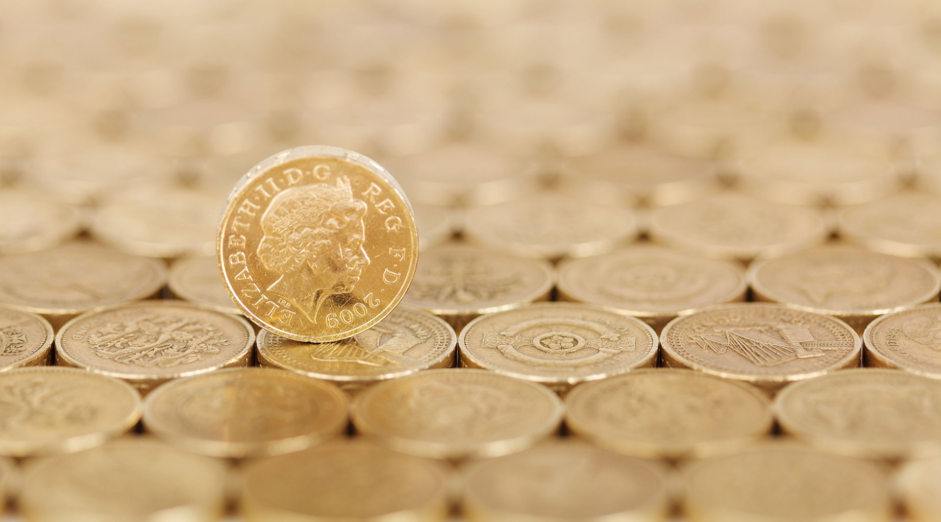 Pound Coin on its side
