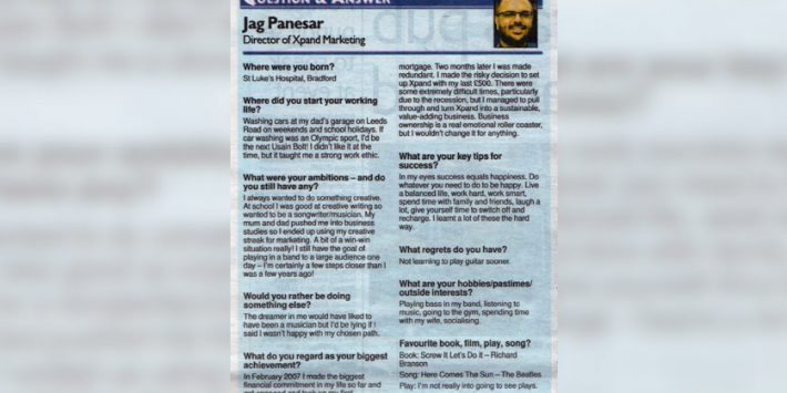 Question & Answer with Jag Panesar